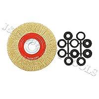 20.32 厘米圆形黄铜镀钢丝刷轮适用于台式研磨机
