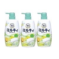 COW 牛牌 牛乳石碱沐浴露 活力柚子 550ml*3