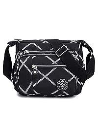 Kukoo 多口袋斜挎包宽敞肩钱包防水旅行手提包