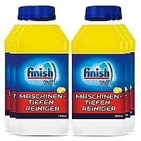 Finish 洗碗機深度清潔劑,抵抗鈣鹽和油脂的液體機器清潔劑,洗碗機護理,檸檬味,6瓶(6 x 250毫升)