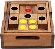 Setting Sun: Handmade & Organic 3D Brain Teaser Wooden Puzzle for Adults from SiamMandalay with SM Gift Bo