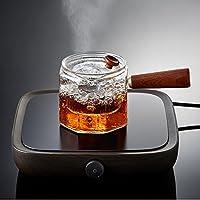 日式锤目纹煮茶神器玻璃侧把壶 高硼硅玻璃带滤网茶壶电陶炉专用煮茶器功夫茶具套装 (煮茶器)