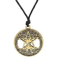 Lemegeton 五角鱼吊坠项链 金色 Morningstar Seal of Solomon wicca man 珠宝
