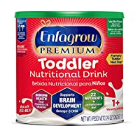 Mead Johnson 美贊臣 Enfagrow優質 歐米茄3 DHA益生元(Formerly 幼兒Next Step)幼兒營養奶粉,1-3歲,香草味,24盎司/ 約680.39克罐裝 來源于Enfamil的制造商