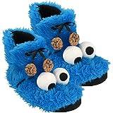 Krümmel Monster 拖鞋 4-8 码毛绒鞋拖鞋 软玩具 芝麻街饼干怪兽 9 Jahre to 99 Jahre 37/38 蓝色