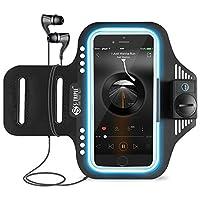 s-triple 超亮360度 Light SPORT 运动臂带适用于10.1英寸智能手机