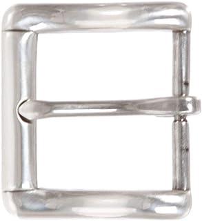 1 3/8 英寸(35 毫米)单爪银色矩形皮带扣