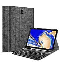 Fintie 键盘保护壳适用于三星 Galaxy Tab S4 10.5 型号 SM-T830/T835/T837,超薄轻质支架保护套