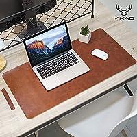 Yikda 加长皮革游戏鼠标垫/垫,大型办公书桌电脑皮革垫鼠标垫,防水,超薄 1.2 毫米 - 31.5 英寸 x 15.7 英寸
