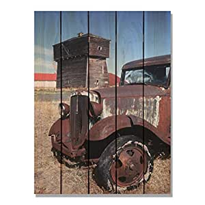Gizaun Art Rust 桶内/外壁画,全彩雪松色 棕褐色 28-Inch by 36-Inch RUB2836