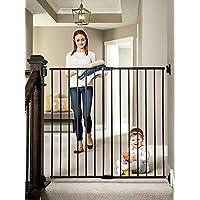 Regalo 加长 2 合 1 楼梯和走廊走路门,黑色