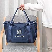 木杰 差旅尼龙干湿分离带鞋位旅行袋行李袋旅行包健身包 (藏青色)