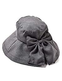 圣哈蒂内斯香产 牛仔布女优帽 头围围脖 防紫外线 折叠 3.ブラック 頭周囲57~60cm DUV-02-3