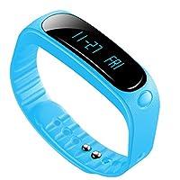 帝维信创时尚蓝牙智能手环多运动模式腕带3轴传感器运动监测睡眠检测计步器防水男女智能手表 (风尚蓝)