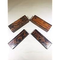 Sonoran 沙漠的异域铁木空白。 (5 件套)尺寸 5 1/8 x 1 3/4 x 1 1/4 英寸 IECAP LLC 出品