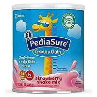 Abbott 雅培 Pediasure Grow&Gain 小安素奶粉,儿童营养奶粉,含蛋白质,DHA,抗氧化剂,维生素和矿物质,草莓味,14.1盎司(400克),6罐