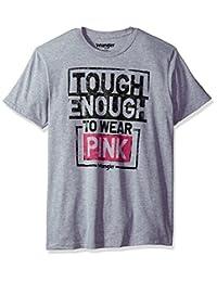 WRANGLER 男式 TOUGH enough TO Wear pink 标志短袖 t 恤