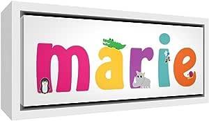 Little Helper 帆布,带木框彩色样,带女孩姓名 Mary 88 x 34 x 3 cm 纯白色大码