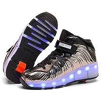 SDSPEED 儿童滚轮滑板鞋单轮鞋运动鞋 7 色 LED 可充电
