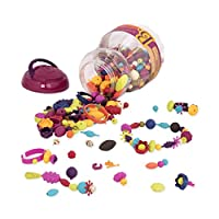 B.Toys 比乐 波普珠珠 创意DIY无绳串珠玩具 手工益智 项链手链 女孩 500粒装 无需线 BX1043Z(适用年龄:4-10岁) 装扮玩具