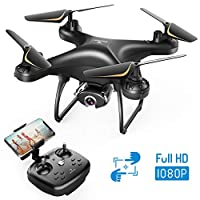 SNAPTAIN SP650 1080P 无人机带摄像头成人 1080P 高清实时视频摄像机无人机,带语音控制、手势控制、圈飞、高速旋转、高度保持、无头模式