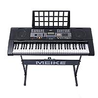美科智能电子琴61键智能教学跟弹初学者入门儿童成人仿钢琴键电子琴MK-809+琴架
