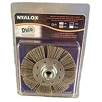 "Dico Products 7200075/4.5"" 灰色 Nyalox 轮刷,11.43 厘米,灰色"