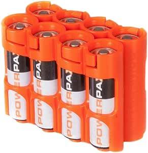 Powerpax 的 Storacell AA 12 件装电池盒,黄色 Holds 8 Batteries COMINHKG125372