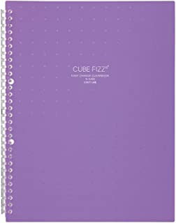 LIHIT LAB. 透明书 可更换式 A4 30孔 10张口袋 CUBE FIZZ 紫色