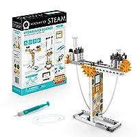 Engino 蒸汽学院玩具| 液压科学:静压与液压机-具有学习活动和实验的STEM积木玩具| 适合家庭学习