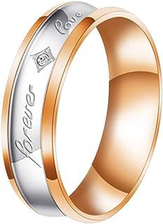 FLIUAOL 4 毫米 6 毫米 8 毫米钛合金戒指 男女婚戒