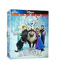 正版动画片冰雪奇缘电影dvd 冰雪奇缘dvd碟片中英文双语版高清