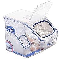 LOCK&LOCK 乐扣乐扣 日式米桶塑料储米箱 (5L) 透明 HPL700-CHS(亚马逊自营商品, 由供应商配送)