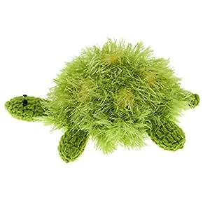 Oomaloo Handmade Turtle Squeaky Dog Toy_Medium_Green