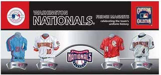 MLB Washington Nationals 4-Pack Uniform Magnet Set