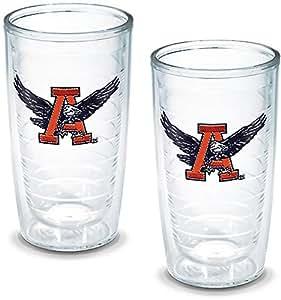 Tervis 1141481 Abilene 基督教大学徽章杯,2 件套,453.59 克,透明 2 件套 16盎司 COMINHKG023002
