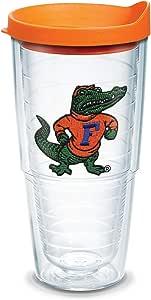 Tervis 1084964 Florida University Gator Body Emblem Individual Tumbler with Orange lid, 24 oz, Clear