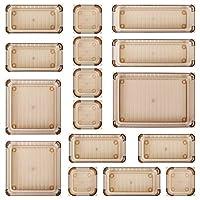 Kootek 16 件桌面抽屉收纳盒套装 5 种尺寸浴室抽屉托盘分隔盒多功能储物箱塑料梳妆台托盘整理盒分隔盒适用于梳妆台化妆厨房用品办公室(棕色)