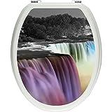 Pixxp/3D WCS 7364 32x40 Niagara Falls a 马桶盖贴纸,WC,马桶盖,Gläzendes 材料,黑色/白色,40 x 32 厘米