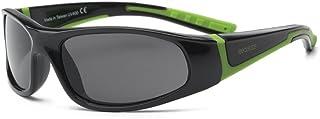 RKS 美国 防紫外线男童女童宝宝儿童太阳镜 建议4岁以上(闪电)黑色+绿色