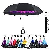 amagoing 汽车 inverted 雨伞双层防风反向雨伞适用于防雨 SUN