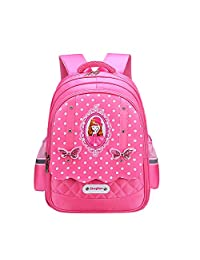 疙瘩王 小学生书包女孩韩版1-3-6年级公主双肩包6-12岁女生儿童