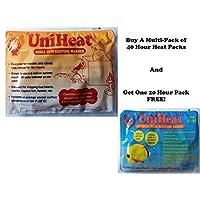 Uniheat Perfect Choice 保温器 40 + 小时,50 包+免费赠送一个免费20小时热包装40+小时保温,适合送活珊瑚、小型宠物、鱼、昆虫、爬行动物等。