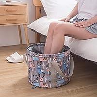 便携式足浴盆适合旅行,可折叠*浸泡温泉桶多用途折叠水盆用于浸泡脚部,清洗蔬菜和水果,户外露营(21升,粉色)