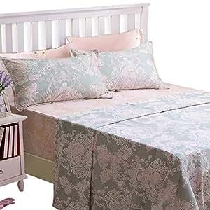 Brandream 浪漫女孩床上用品套装 成人儿童床单套装 单人床 G 全部