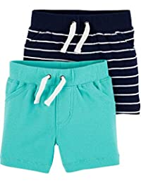 Carter's 卡特男婴短裤 2 件装 - 蓝*/*蓝 - 12 个月