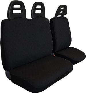 Lupex Shop _ ct. B N VAN 座椅套 3 座 厢式货车 腰带 低绗缝,棉,黑色