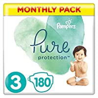 Pampers 帮宝适 Pure Protection 覆盖 多种颜色 Monatsbox Gr. 3 180