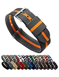 Barton Watch Bands4332838839 Ballistic Nylon 橙色 SP22 表带
