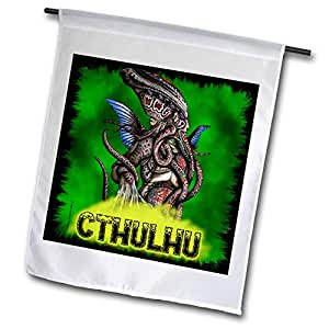 badhead gadroon MYTHOLOGY–cthulhu lovecraft mythos elder GOD 恐怖艺术–旗帜 12 x 18 inch Garden Flag